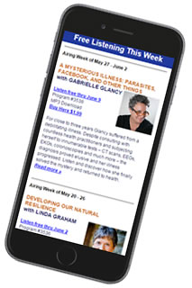 New Dimensions newsletter on smartphone